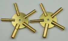 CLOCK WINDING KEYS brass spider odd/even pair all sizes key wind old clocks
