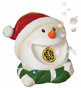 Musical-Snowman-Head-Bubble-Machine-Christmas-Party-Figure-Decoration