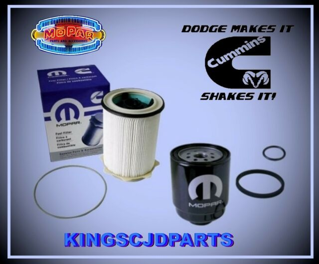 Fuel Filter Set Front & Rear Fuel Water Separator Dodge Ram 6.7 Turbo Diesel OEM