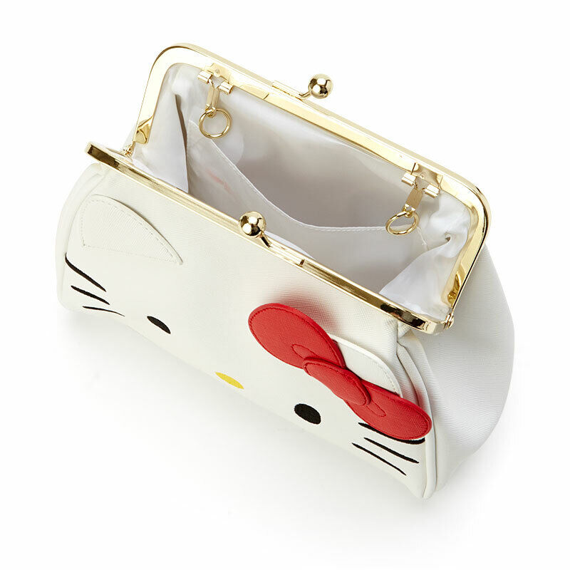 Last 1 Hello Kitty Asakusa Bunko Gamaguchi Purse with Handle Sanrio Japan Track#