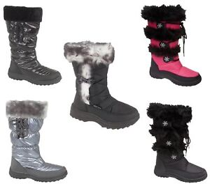 736d0ac4b3537 Women And Girls Snow Boots Ladies Winter Warm Fur Lined Flat Shoes ...