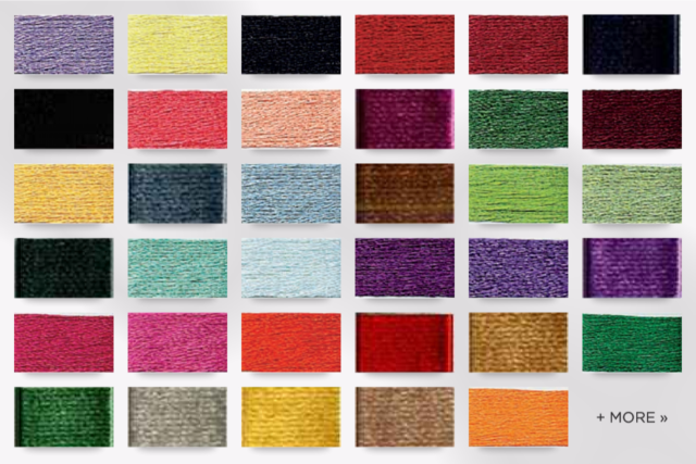 per pack of 2 Satin Embroidery Thread