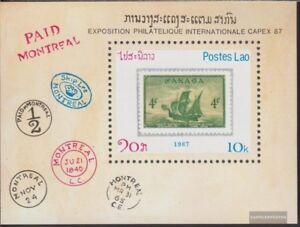 Laos-Block116-kompl-Ausg-postfrisch-1987-CAPEX-87