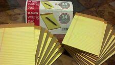 """24 × tops Writing Pads Yellow 50 Sheet each 5"""" x 8"""" legal rule,☆ FREE SHIPPING ☆"""