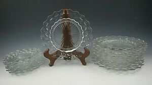 Lot-of-14-Fostoria-Crystal-AMERICAN-CLEAR-Salad-Bread-amp-Butter-Plates-EX