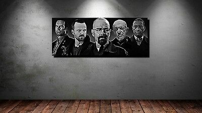 LEINWAND BILD XXL POP ART BREAKING BAD COLLAGE WALTER WHITE PINKMAN BIS 150x60