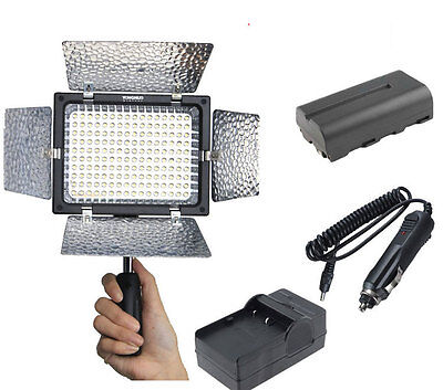 YN-160 LED Video Light Lamp For DSLR Camera Camcorder + 2200mah Battery +Charger