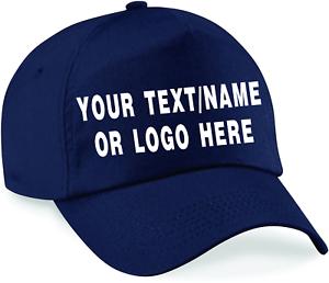 Personalised-baseball-caps-Customised-Adults-unisex-Printed-Caps-Hats-Text-Logo
