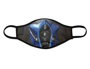 Face Mask Mortal Kombat Sub Zero Washable Face Covering Custom Ebay