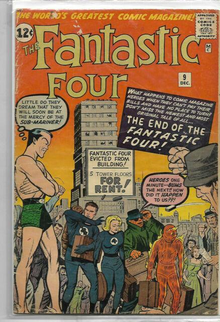 Fantastic Four #9 3.5 3rd Sub Mariner (Dec 1962, Marvel)