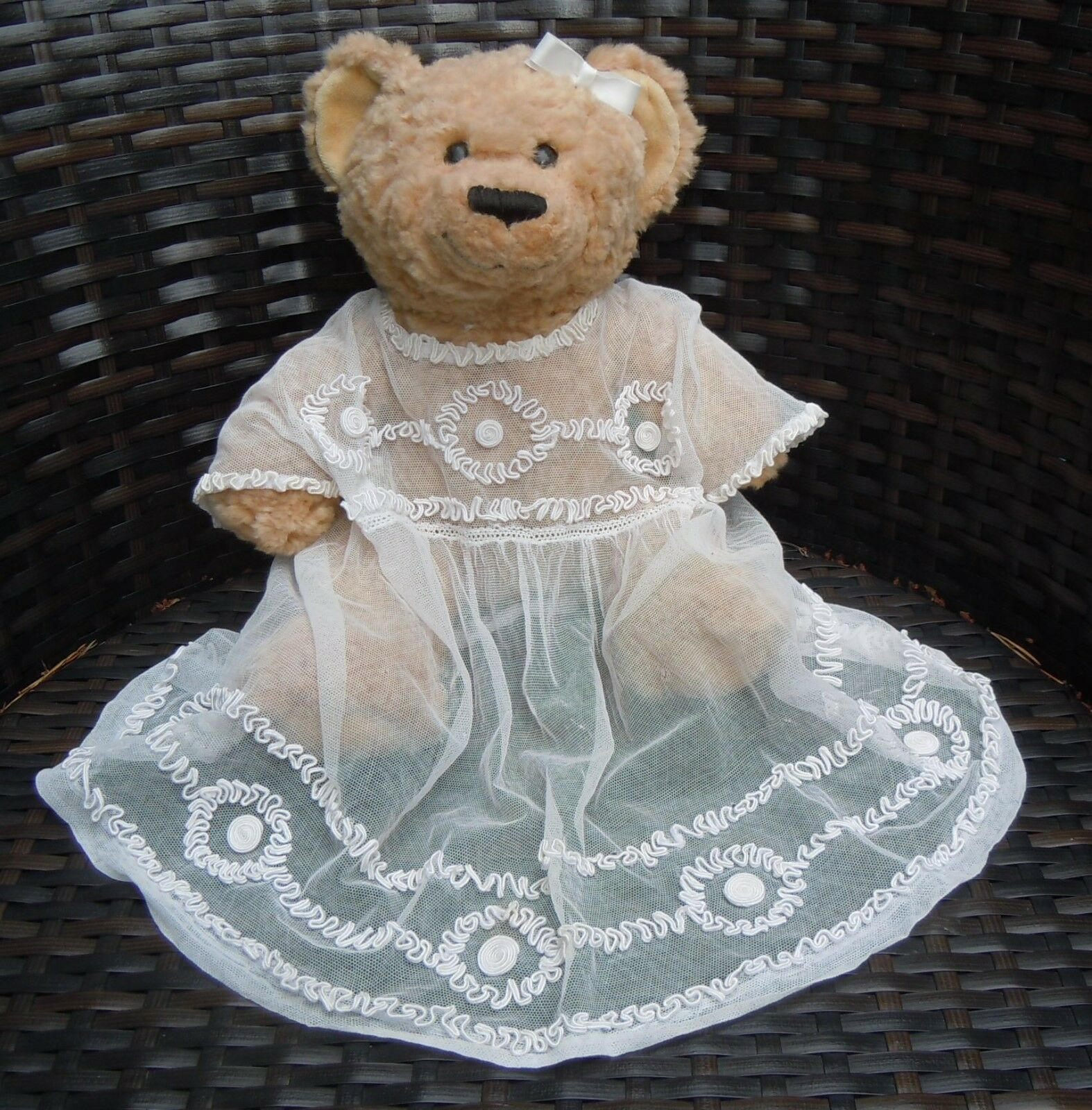 SOUTACHE Vintage Baby or Doll dress embellished with Soutache Braid Embroidery