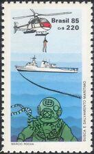 Brazil 1985 Air-Sea Rescue/Transport/Helicopter/Ship/Diver/Diving 1v (n26113)