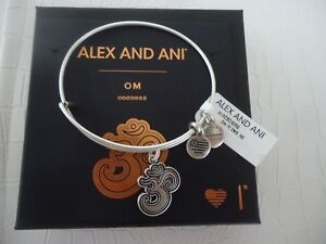 Image Is Loading Alex And Ani Om Iv Russian Silver Finish
