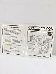 Vintage-He-Man-MOTU-STRIDOR-Instructions-sheet-Mattel-1983