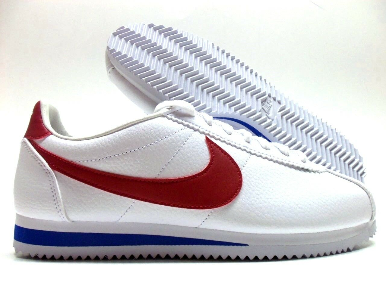 NIKE CLASSIC CORTEZ LEATHER FORREST GUMP WHITE VARSITY RED MEN 8.5 [749571-154]