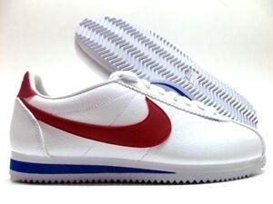 Men's 10 Nike Cortez Classic Whitevarsity Leather Forrest Gump Red P0U7wq4
