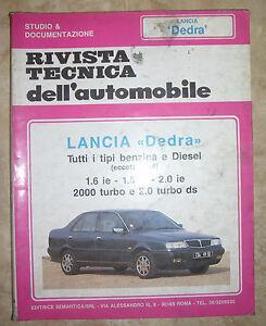 tecnica dell automobile  RIVISTA TECNICA DELL'AUTOMOBILE - N. 54 - LANCIA DEDRA (BP) | eBay