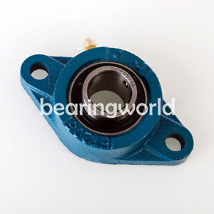 NEW High Quality UCFL203-17  17mm Insert Bearing with 2-Bolt Flange