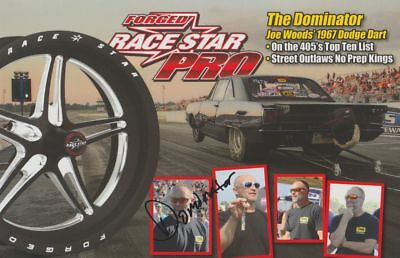 2018 Dominator signed Race Star Wheels Dodge Dart PRI Street Outlaws  postcard | eBay