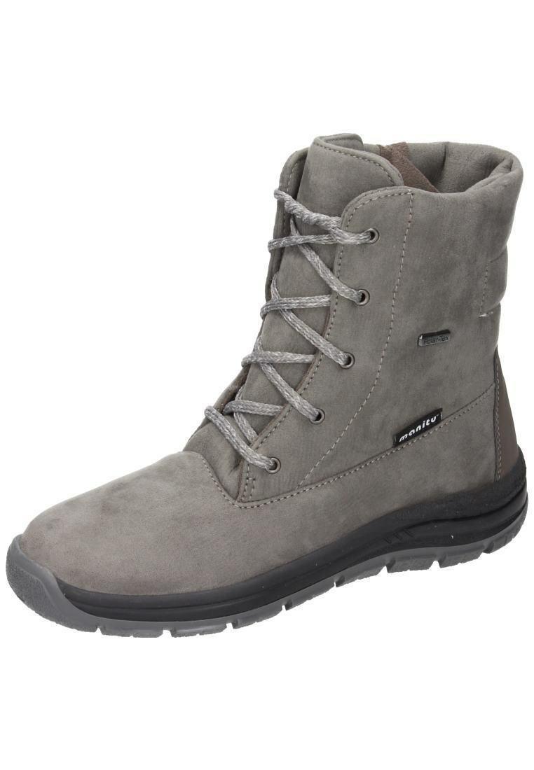 Manitu Boots Winter Boots Womens shoes Beige Size 36-42 991124 -8 Neu1