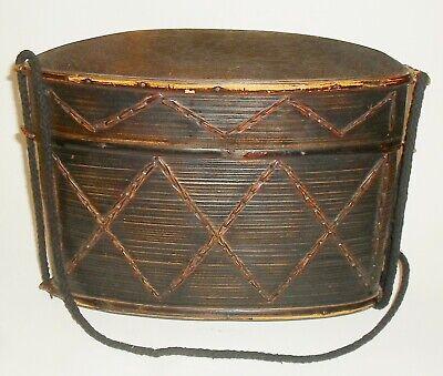 Ausdauernd Ältere Tasche / Trage Behälter Aus Span Holz , Selten ! Modischer (In) Stil;