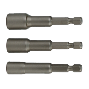 "5//16/"" 3 pieces 3//8/"" x 4/"" Wiha 70491 Magnetic Nut Setter Set 1//4/"""