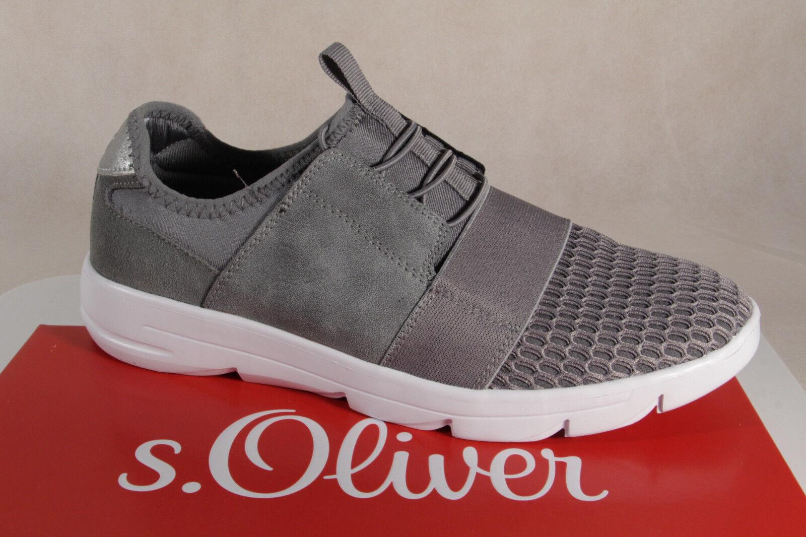 S . Oliver Oliver Oliver Bailarina Zapatillas zapatillas Zapatos de Tacón gris Nuevo  tienda de venta