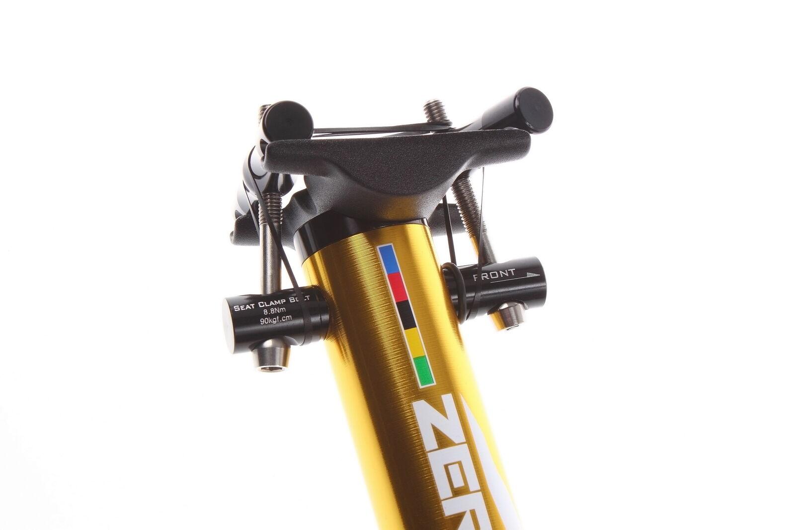 Aerozine XP-Zero Road Mountain CX Bicycle Seatpost Bike Post 27.2mm 400mm gold