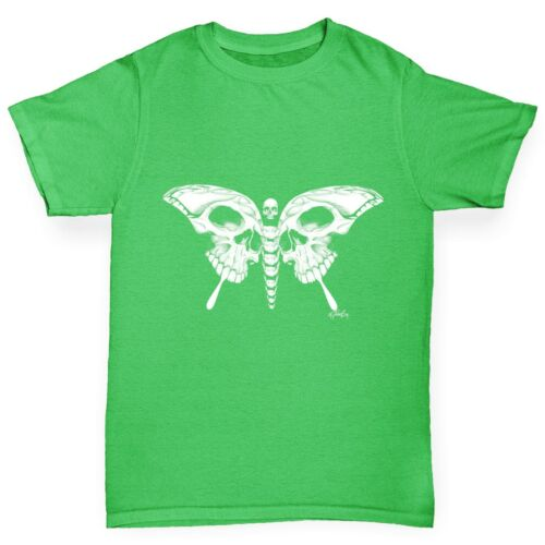 Twisted Envy Skull Butterfly Girl/'s Funny T-Shirt