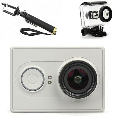 XiaoMi Yi Wifi HD1080P Sports Mini Action Camera+Monopod+Durable Waterproof Case