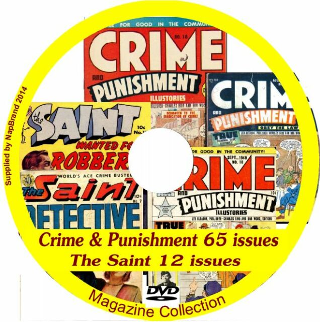 The Saint 12 issues + Crime & Punishment 65 issues DVD includes viewing software