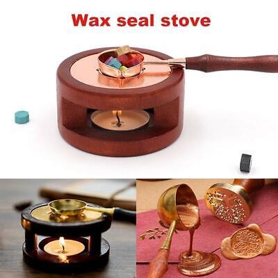 1PC Vintage Wax Seal Stamp Warmer Furnace Stove Pot Melting Spoon Kit Stamp Tool