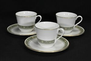 Royal-Doulton-Rondelay-H5004-Set-of-3-Cups-amp-Saucers