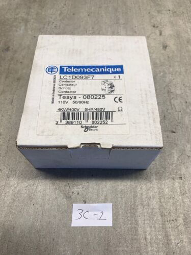 Telemecanique LC1D093F7 Contactor FAST SHIPPING! 4kw//400V, 5Hp//480V NEW