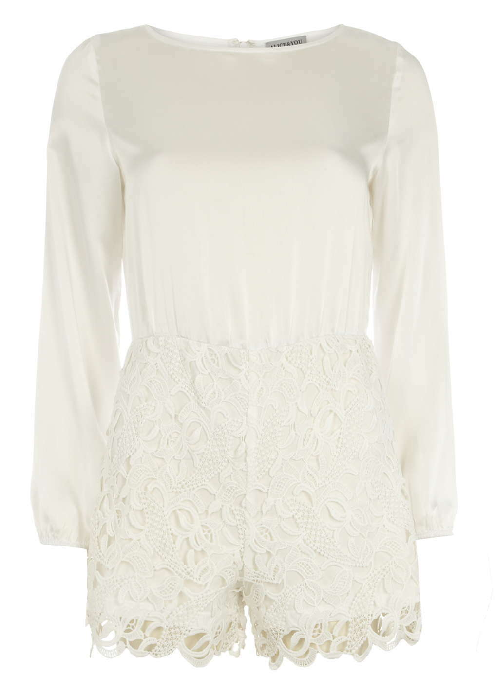 Dgoldthy Perkins Alice & You  Contrast Lace 14  16  Playsuit  White