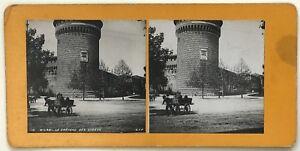 Milan Il Château Da Sforza Foto P39L9n8 Stereo Stereoview Vintage Analogica