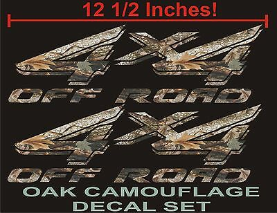 4x4 OFFROAD Truck Decals, OAK TREE CAMOUFLAGE Set for Ford F150 & Super Duty