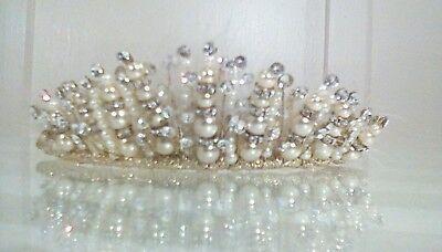 Bespoke Couture Matrimonio/prom Diadema Da Leigh Mccague-nuovo Anne Con Etichette-mostra Il Titolo Originale