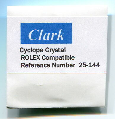 "Crystal Ref. # 25-144  144  Replacement for Rolex/Tudor  ""CLARK"""
