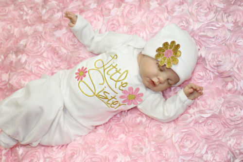2Pcs Newborn Infant Kids Baby Girls Boy Pajamas Gown Swaddle Outfits Gown+Hat