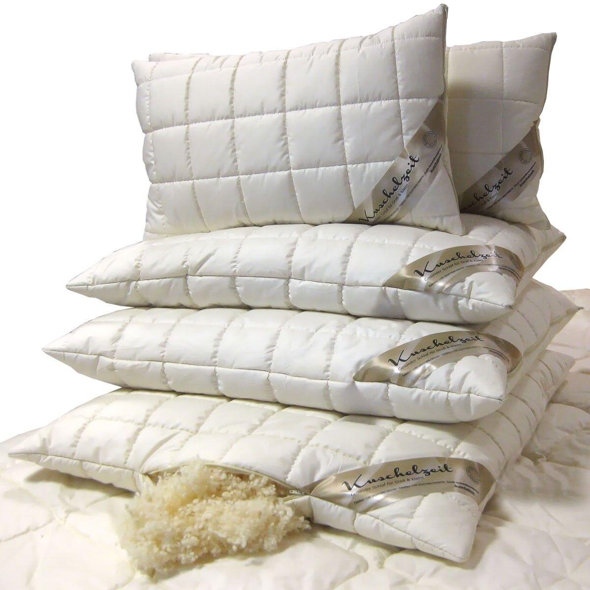 Merino Kopfkissen mit mit mit Schafschurwollkugeln Schurwoll-Kissen Made in Germany   Um Zuerst Unter ähnlichen Produkten Rang  f7fd03