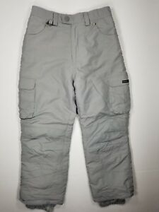 Suisse-Sport-Size-12-Boys-Insulated-Snowboard-Ski-Pants-Gray-Winter-Snow