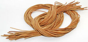 """72/"""" Rawhide Leather Shoelaces Strings Boat Shoe Boot Laces ONE PAIR  TAN"""