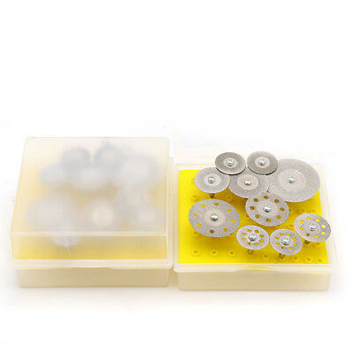 10pcs × Mini Diamond Saw Blade Cutting Disc Rotary Wheel Grinding Set 3mm Shank