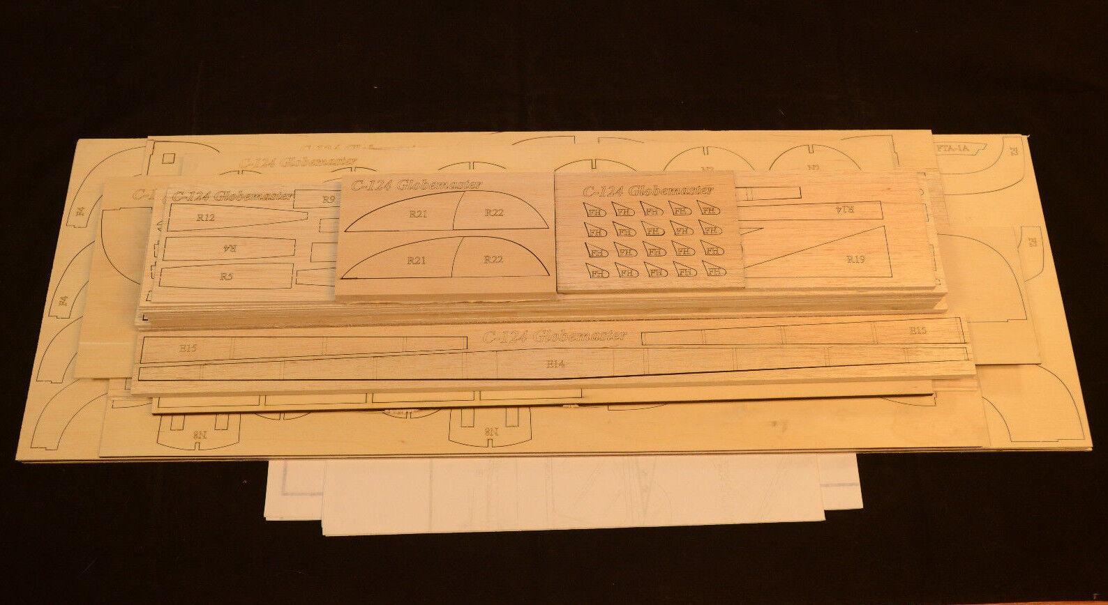 Douglas C-124 GLOBEMASTER Laser Cut Short Kit & Plans to build 87  ws R c Plane