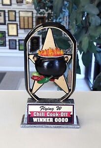 Chili Cook Off Sculpture Trophy Award Cook Off Pot Cooking T Es568