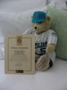Manufactured Marlins Teddy Bear 1993 Cooperstown Edition Bears