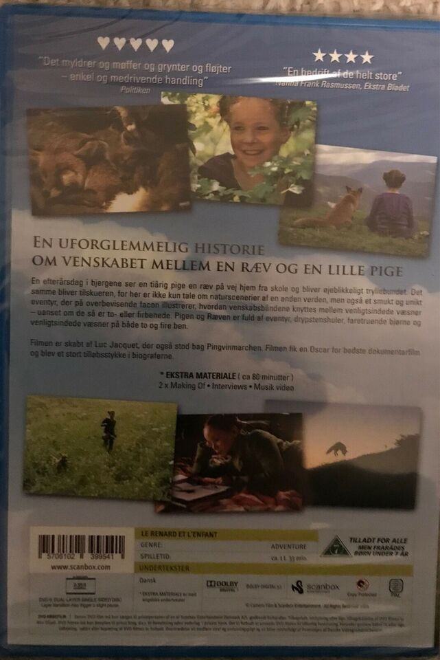 Pigen Og Ræven, DVD, eventyr