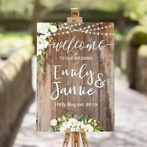 Personalised-Wedding-Welcome-Sign-A1-A2-A3-Sizes-Rustic-Cream-Roses-001