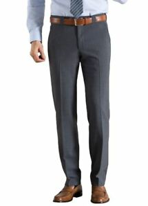 Para Hombre Pantalones Formales Meyer Roma Mezcla De Lana Gris Ebay